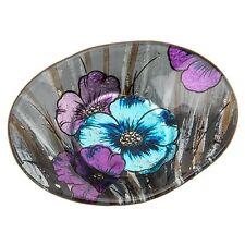 Azure Poppy Oval Bowl Mini Trinket Jewellery Keys Ornament Homware Decor Gift
