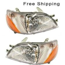 Halogen Head Lamp Assembly Set of 2 Pair LH & RH Side Fits 2000-2002 Toyota Echo