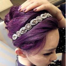 Lady Bling Diamond Crystal Band Elastic Hairband Headband Women Girls Headwear