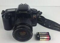 Canon EOS Rebel S Quartz Date 35mm SLR Film Camera  w/35-80mm Lens + Battery