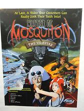 MASTER OF MOSQUITON THE VAMPIRE SLICK PROMO AD SHEET 1999 ADV 2 SIDED RARE