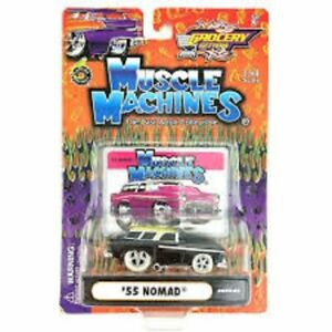CHEVY NOMAD WAGON 1/64 '55 1955 MUSCLE MACHINES GROCERY GETTERS 1:64 BLACK