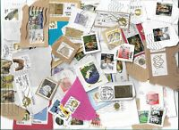 340g of Ireland postage stamps, all postmarked, kiloware