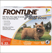 Frontline Plus Flea and Tick Treatment for Dogs (Small Dog, 5-22 Pounds, 3 Doses