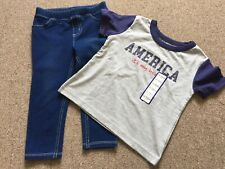 Girls Clothes Shirt And Jean Pants Toddler 24 Month