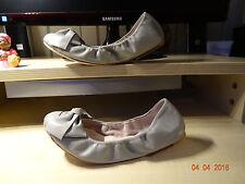 Zuckersüße BLOCH Ballerina Leder grau taupe, Größe 36 NEUw.
