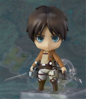 "Nendoroid 375# Attack on TItan Eren Yeager 4"" PVC Action Figure Model Toy In box"