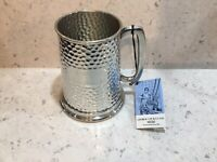 One Pint Full Hammered Pewter Tankard. George Lee And Co Sheffield