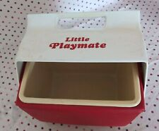 MiniMate by IGLOO Red and White Personal Size Cooler / Lunch Box 1990s Side Lock