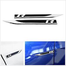 2 Pcs Metal R Emblem Badge Car SUV Off-Road Side Fender Decoration Sticker Decal