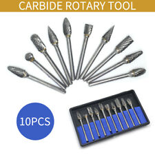 10Pcs Tungsten Steel Solid Carbide Burrs Accessories For Dremel Rotary Tool Bit