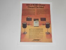 Bose 901 Speaker Ad Series 2 QUAD, 1801 Amplifier, 1 Page, '75, Articles + Info