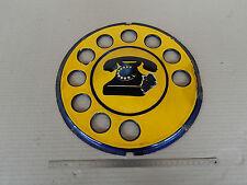 INSEGNA SMALTATA ORIGINALE TELEFONO OLD SIGN PHONE