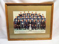 1966-67 Vintage Toronto Maple Leafs, Framed Team Photo Display