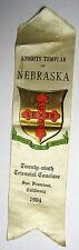 1904 San Francisco - Nebraska Knight's Templar Parade Ribbon Badge