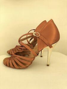 Perfect Condition G Franco Sunset Salsa Dance Shoes Stilettos Size8.5 $90