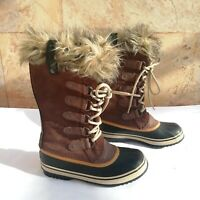 SOREL Sz 6.5 Joan Of Arctic Boot Brown 1308891-256 Waterproof Winter Snow Boots