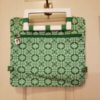 Old Navy 2-way Convertible Clutch Purse Green White Geometric Print