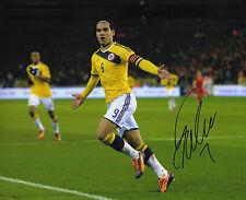 Radamel Falcao SIGNED 10x8 PHOTO COLOMBIA Genuine AUTOGRAFO AFTAL COA (1193)