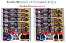 2020/21 Match Attax Champions League Soccer Cards - 10 Packets (70 cards)