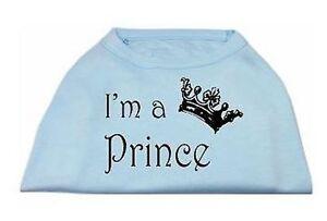 Blue Dog Tank Shirt Top I'M A PRINCE Tee T-Shirt