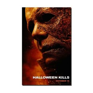 Halloween Kills Movie Silk Canvas Poster Horror Film Painting Wall Art Decor
