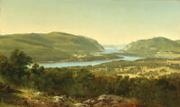 Oil painting david johnson - View from Garrison, West Point, New York landscape