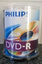 100 x Philips DVD-R Blank Recordable Discs 4.7GB 120 Mins 1-16x Speed