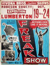 "Freak Show Circus Poster Photo Print 14 x 11"""