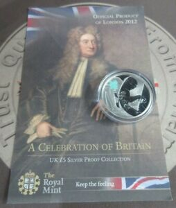 London Olympics 2009/2010 Celebration Of Britain £5 Silver Proof Coins With COA