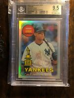 2018 Topps Heritage Aaron Judge Chrome Refractor BGS TRUE GEM High Subs 9.5 & 10