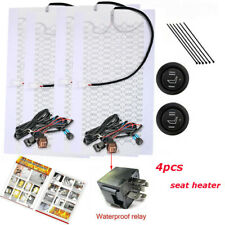 2 Seats Universal Heated Seat Heater Kit 12V Carbon Fiber Round High/Low Switch