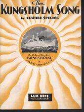 The Kungsholm Song 1932 Advertising Sheet Music