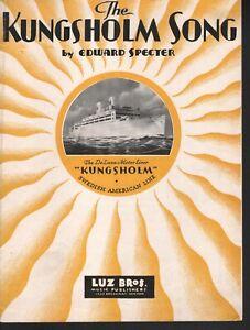 Kungsholm Song 1932 Advertising Sheet Music