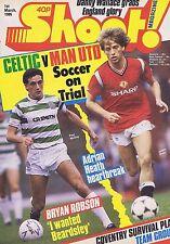 CELTIC / MAN UTD / COVENTRY TEAM / BRYAN ROBSONShoot1Mar1986