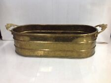 Vintage ~ Brass ~ Copper ~ Planter ~ Pot ~ Made In India
