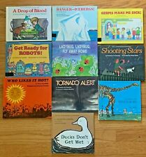 Lot 10 Vintage Hardcover Let's Read And Find Out Science Books Danger-Icebergs