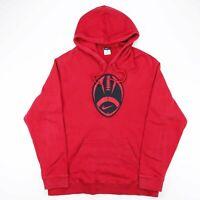 NIKE Red Big Logo American Football Pullover Sweatshirt Hoody Size Mens XL