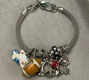 Silver Plated Brighton Bracelet With 8 Charms