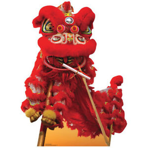 CHINESE NEW YEAR Red DRAGON CARDBOARD CUTOUT Standup Standee Poster Party Decor