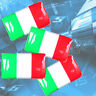 X8 Bandera de Italia 3D Logo Interior Pegatinas para Fiat 500 Coche Abarth Alfa