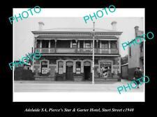Old Postcard Size Photo Of Adelaide Sa Star & Garter Hotel Sturt St 1940