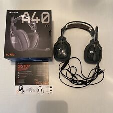 ASTRO Gaming A40 TR Wired Headset with Astro Audio for PC/Mac Gray With Box