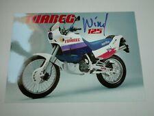 Prospectus Catalogue Brochure Moto Aprilia Touareg Wind 125 1989 GB-D-F