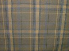 5.2 Metres Elgin Bluebell Blue Wool Effect Tartan Upholstery Curtain Fabric