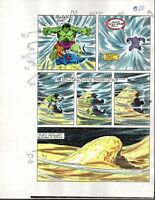 Original 1985 Marvel Comics Hulk 309 color guide art page 20:1980s Avengers hero