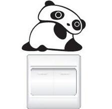 FD1248 Big Eyes Cute Panda Switch Light Funny Wall Decal Vinyl Stickers DIY ~1pc