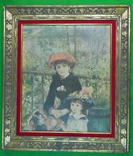 """Vintage Framed """" Two Sisters """" by Renoir Print"""