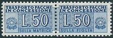 * Italia 1953 Repubblica: PACCHI Lire 50 Ruota  [2; MLH VF] €190