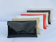 Stylish Large Envelope Patent Clutch Bag/Shoulder Bag Wedding Party Prom Bag
